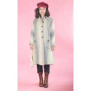 Gorgeous 1960s Patterned Wool Peacoat